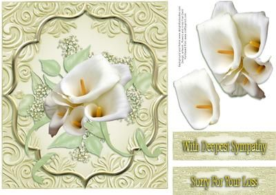 Sorry For Your Loss on Craftsuprint designed by Frances Dent - This sympathy…