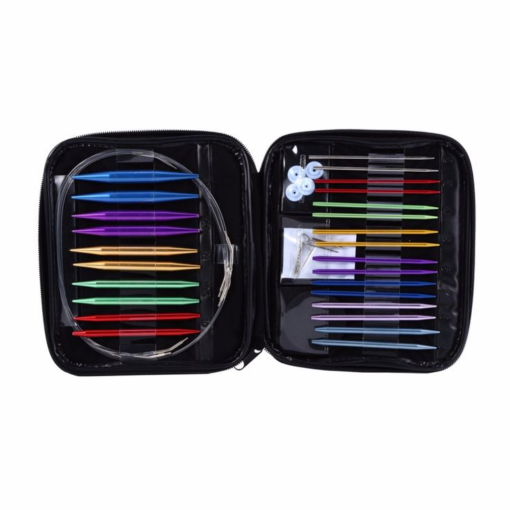 Cheap knitting needle kit, Buy Quality needle grip directly from China knitted wig Suppliers: 1 Set Interchangeable 13 Sizes Circular Knitting Needle Kit 2.75mm-10mm with Case
