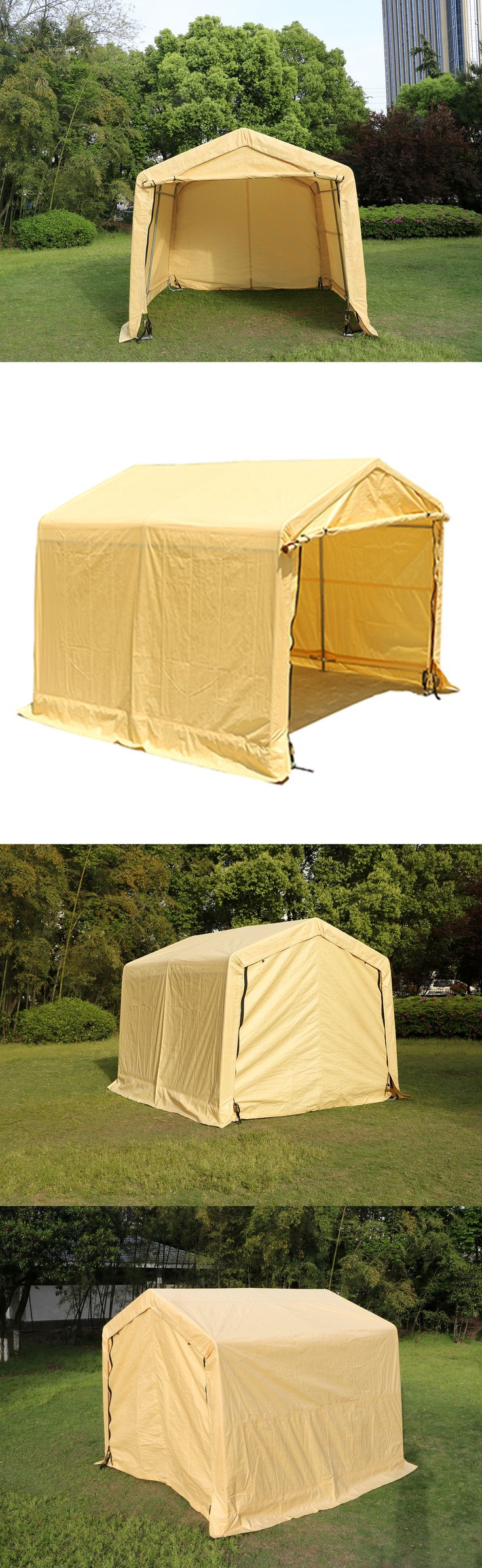 Garden and Storage Sheds 139956: 10X10x8ft Auto Shelter Logic Carport Storage Car Shelter Canopy Tent Party Beige -> BUY IT NOW ONLY: $186.99 on eBay!