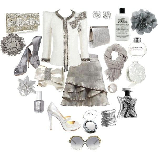 """silver"" by hannahsweety on Polyvore"