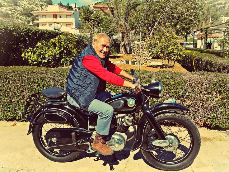 My Grandfather's best friend - ( the motorcycle was owned by my grandfather) – after 50 years we surprised him and he acted like a child as he could ride again the motorcycle with which  my grandfather took him to church!! #NSU #motorcycle #Restoration