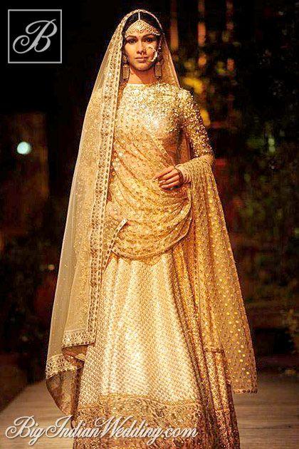 Sabyasachi golden bridal lehenga