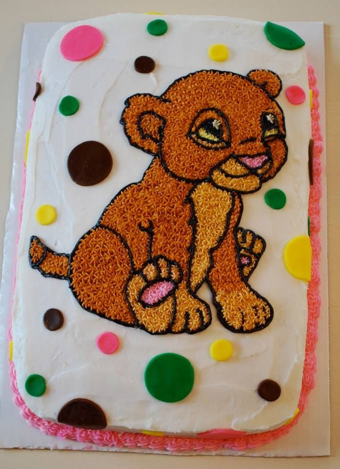 Lion King Nala Baby Shower Cake Baby Shower
