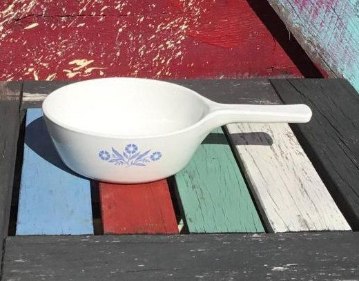 1970's Vintage Corningware P-81-B Cornflower Blue Saucepan with Handle | Corning Ware Pan Skillet Menu-ette Dish | Pyroceram by ShowMeShabby on Etsy