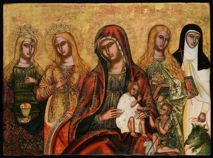 Mother of God with Four Female Saints - Morsink Icon Gallery