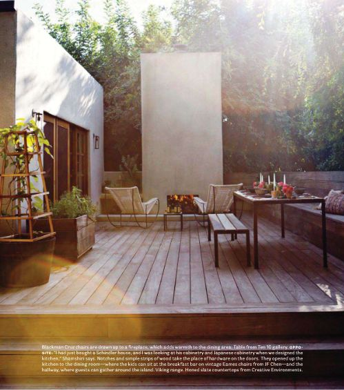Simple yet modern home by Pamela Shamshiri: Idea, Outdoor Living, Exterior, Patio, Outdoor Fireplaces, House, Outdoor Spaces, Garden