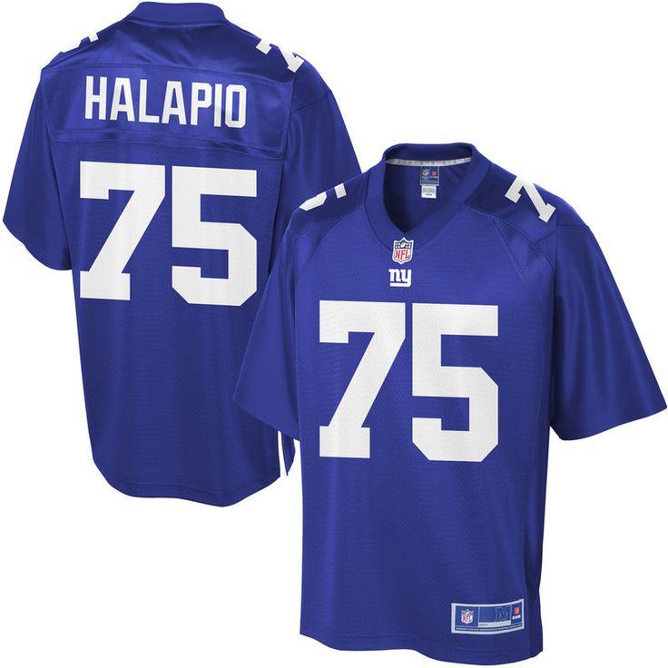 Jon Halapio New York Giants NFL Pro Line Youth Player Jersey - Royal