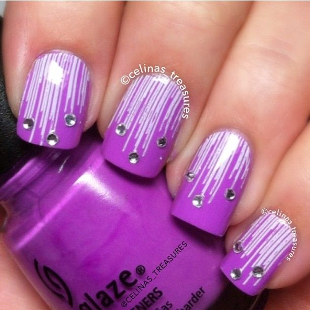 Dripping nails with jewels on the end - 476 Best Cute Extra Girly Nails Images On Pinterest Make Up