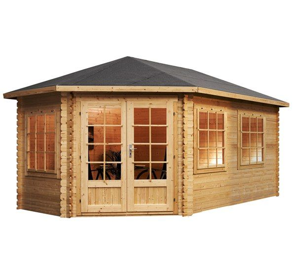 Best 25 log cabin sheds ideas on pinterest small garden for Quick garden buildings