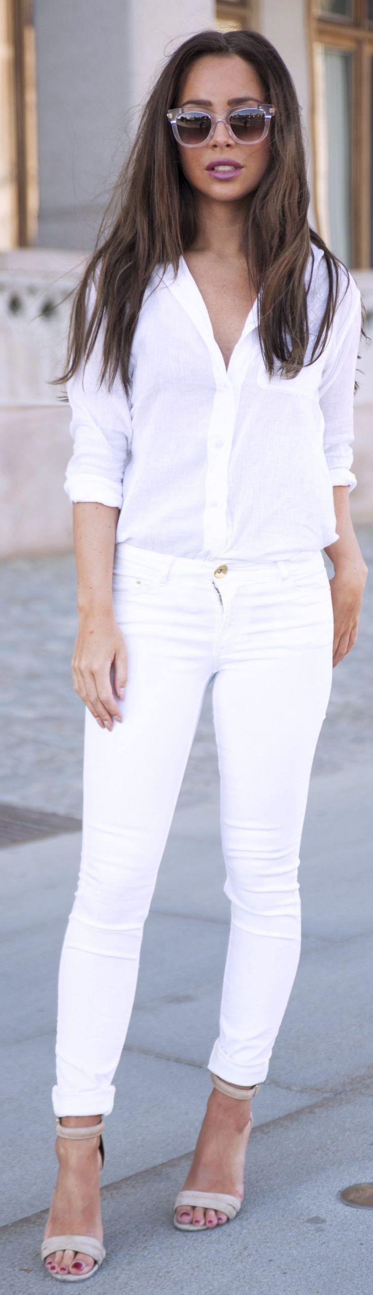 Denim And Supply White Womenu0026#39;s Summer Button Up | Threads | Pinterest | All White Denim And ...