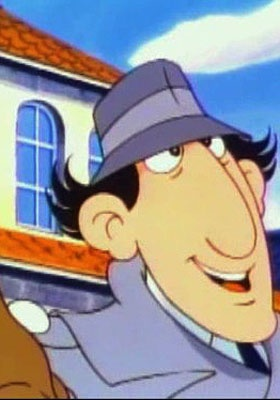 Inspector Gadget was clumsy, absent-minded but empowered by various gadgets built into his anatomy, such as binoculars that lowered down from his hat!