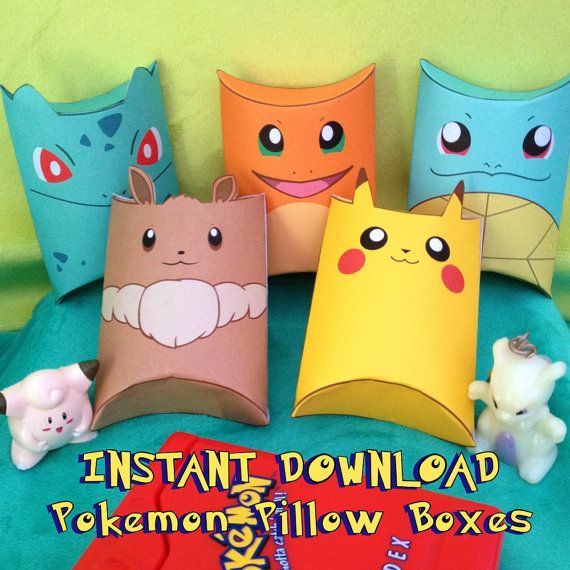 Pokemon Inspired Pillow Boxes Instant by MissFrightsDelights