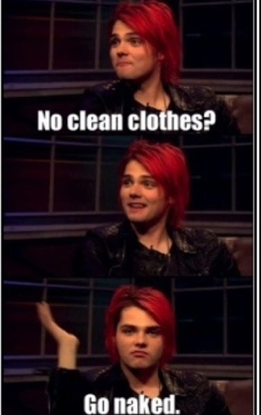 Gerard way- completely caught me off guard. I did not expect that. Hilarious!
