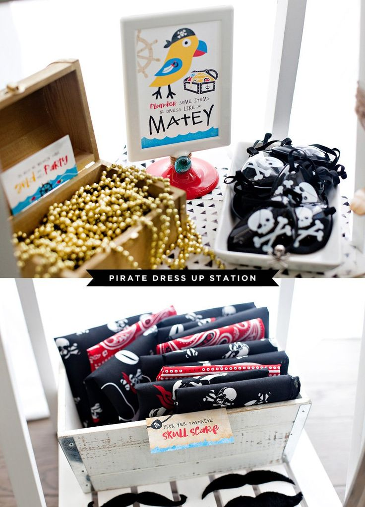 Playful & Modern Pirate Birthday Party Ideas