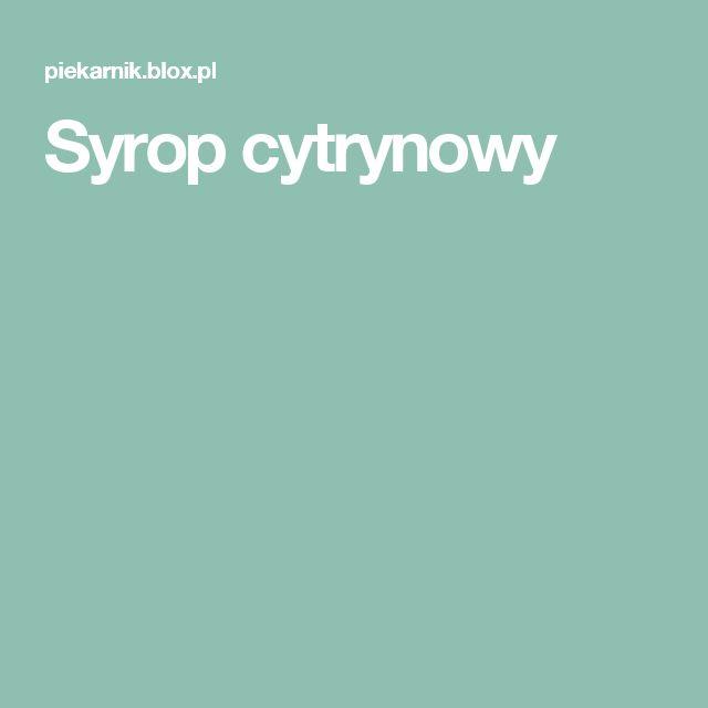 Syrop cytrynowy