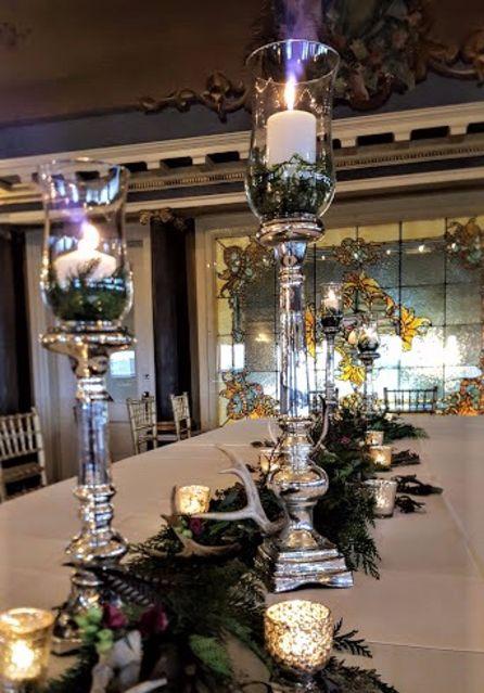 MN Mercury Glass Wedding Decor Rentals Minnesota Vintage Silver Weddings Styling