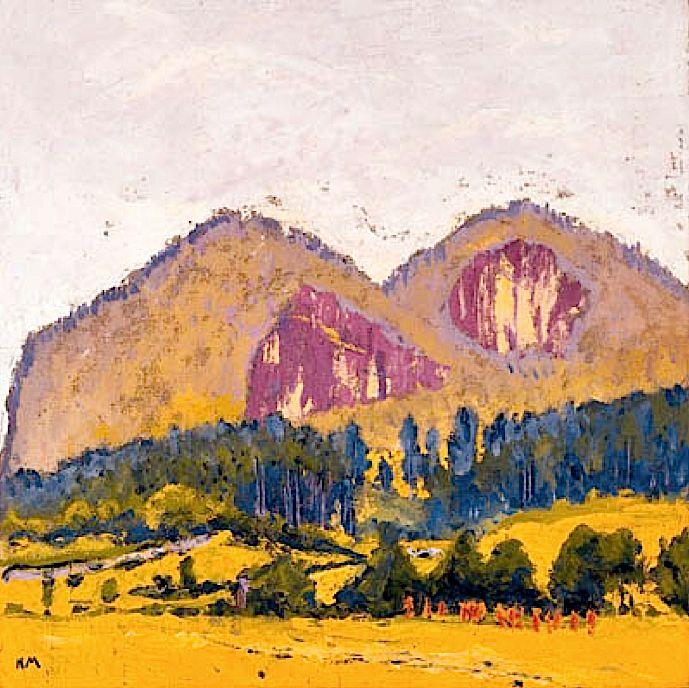 #KolomanMoser #moser #plomberg #1800s #painting #landscape #color