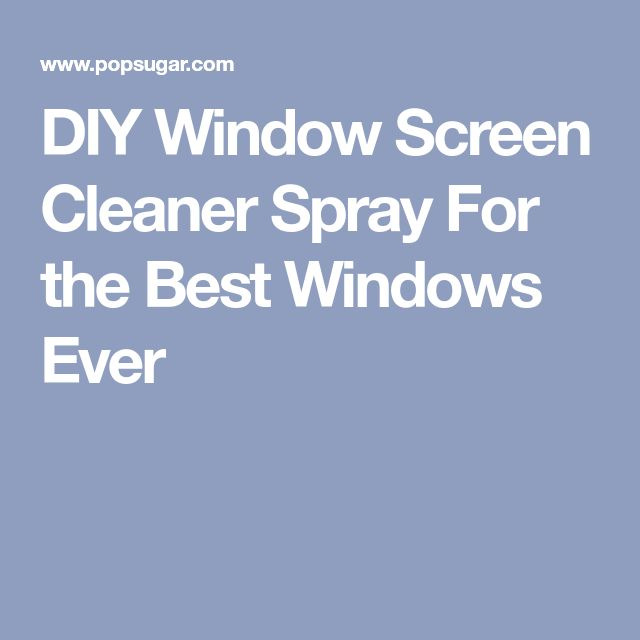 DIY Window Screen Cleaner Spray For the Best Windows Ever