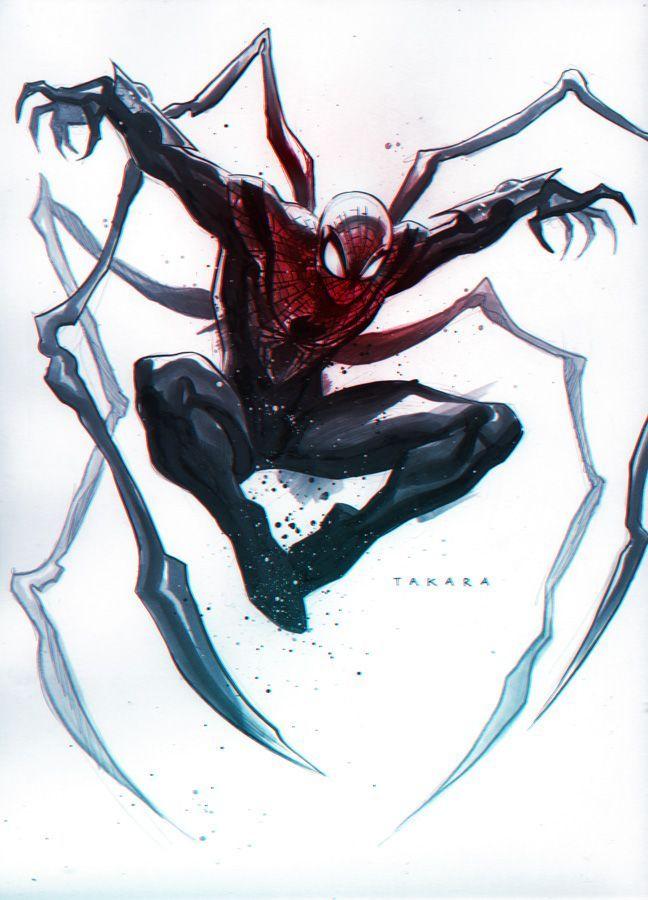 commission - Superior Spider-Man, colors by marciotakara.deviantart.com on @DeviantArt - Visit to grab an amazing super hero shirt now on sale!