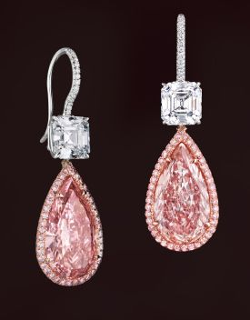 Leviev pink diamond earrings...omg love the color gotta have