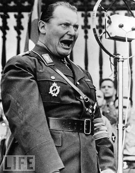 Goering - another glorious specimen of the 'Master Race'...the man was twisted...all the time...