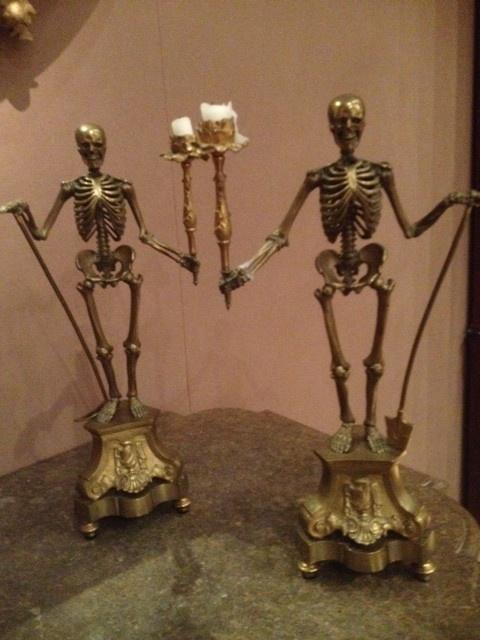 Carlton Hobbs Skeleton Candle Sticks Favorites Pieces