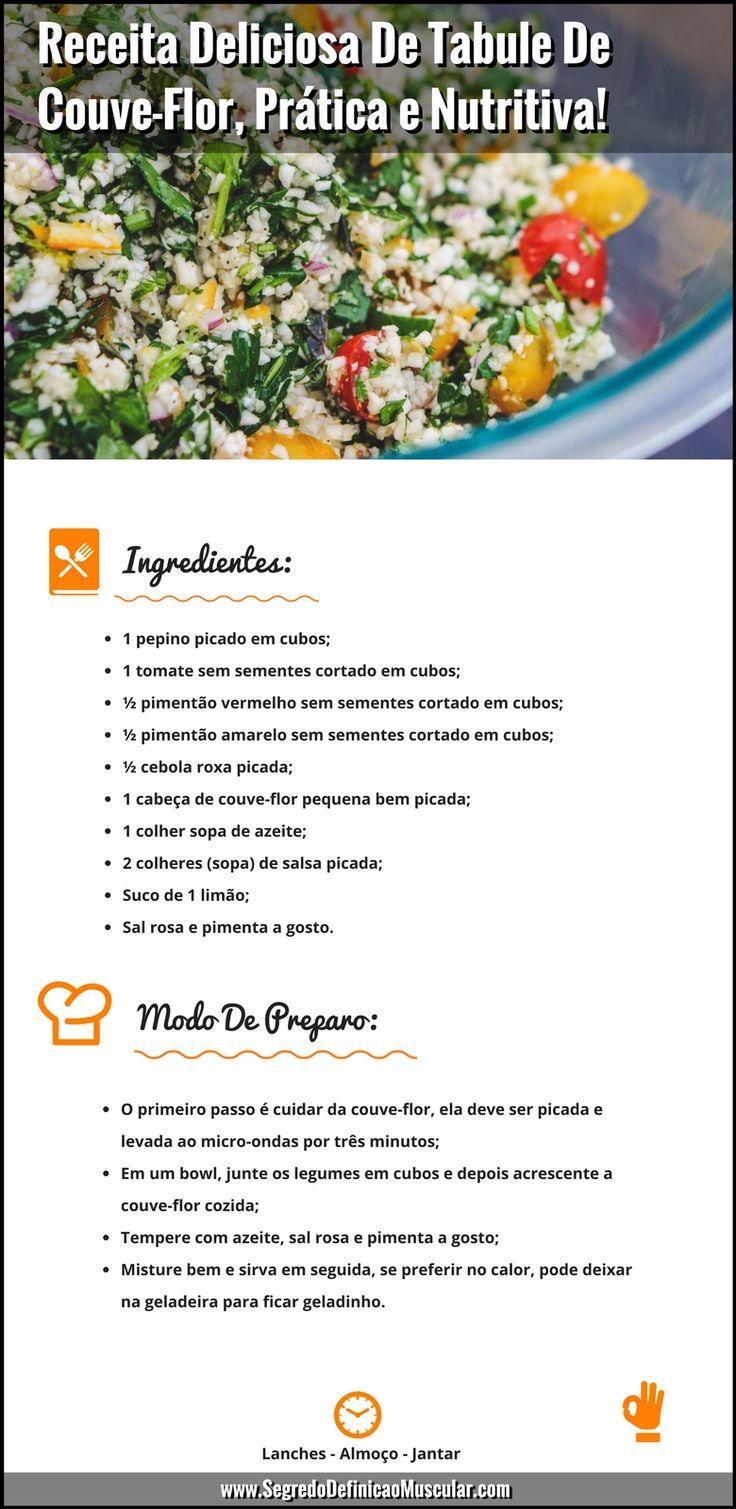 Receita De Tabule De Couve-Flor