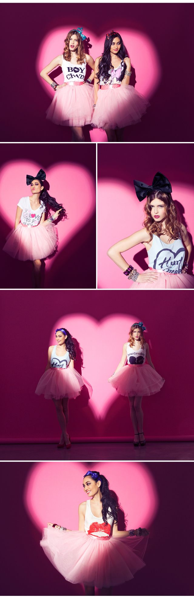 A fun idea for a bachelorette/hen's party - create a hot pink love light against a wall as your photobooth. Or you could use a white love light for a wedding.