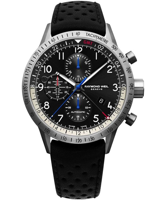Raymond Weil Freelancer Piper - 7754-TIC-05209  In a tribute to the founder's deep passion for aviation, @RaymondWeil has partnered with the legendary aviation manufacturer Piper Aircraft to present this, the Freelancer Piper. The piece features an altitude-indicator themed small-seconds dial, rotor-blade minute and hour hands and is powered by Raymond Weil's RW5020 automatic chronograph movement with GMT complication.   EXTREMELY limited stock.  #RWPiperAircraft #Freelancer
