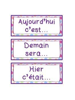 Vertellen over de dagen in het Frans.