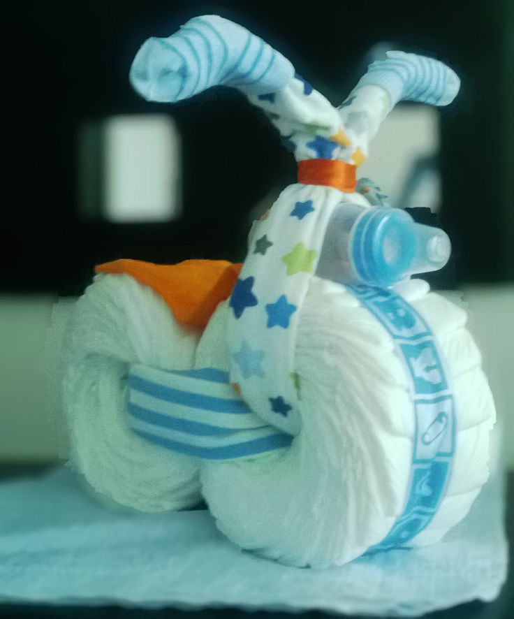 How To Make A Motorcycle Diaper Cake With Sidecar
