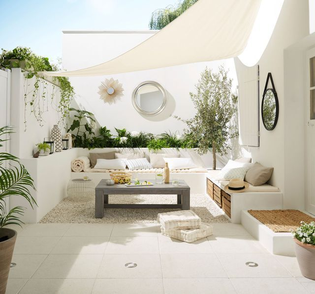 Sonnenschirm, Sonnensegel: Deko-Modelle zu Händen den Außenbereich – Balcony Entwurf