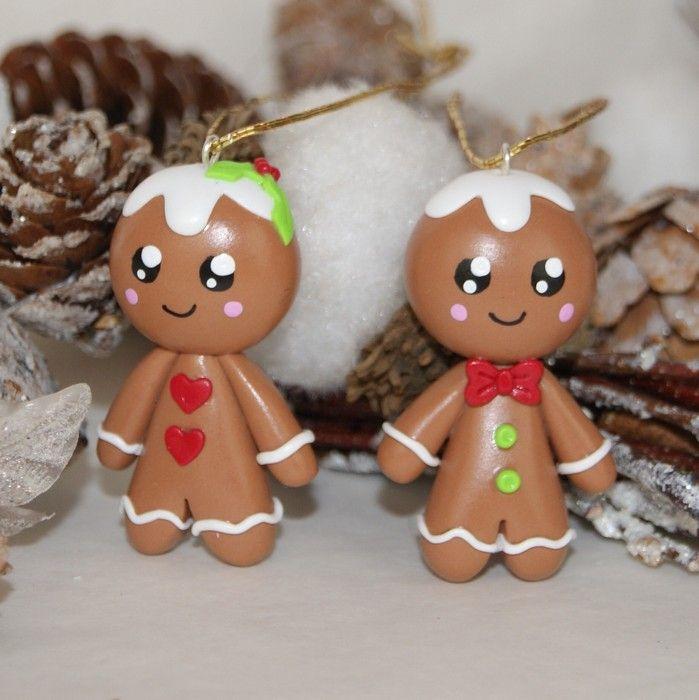 Décoration de Noël à suspendre. Au choix : Mr ou MmePain d'épices (à préciser par mail après validation de la commande)