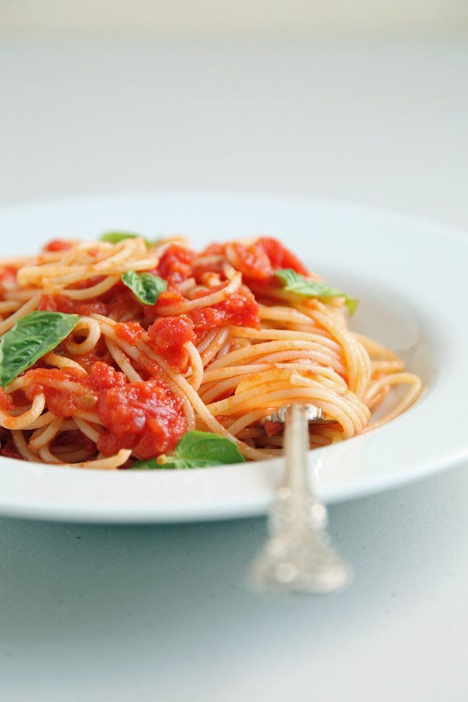 Get the recipe: Marcella Hazan's three-ingredient tomato sauce Image Source: POPSUGAR Photography / Nicole ...