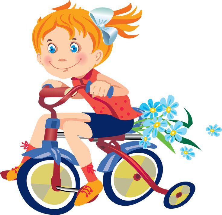 Картинка ребенок велосипедист