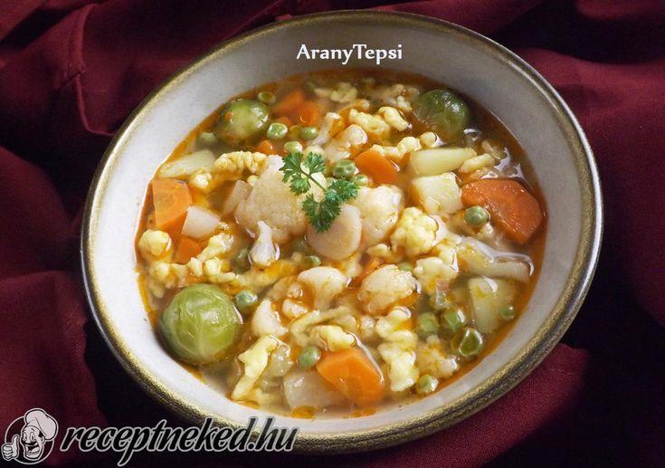 Kipróbált Zöldségleves házi reszelt tésztával recept egyenesen a Receptneked.hu gyűjteményéből. Küldte: aranytepsi