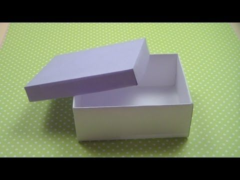 Как сделать КОРОБКУ С КРЫШКОЙ / How to make а Paper Box / ✿ NataliDoma - YouTube