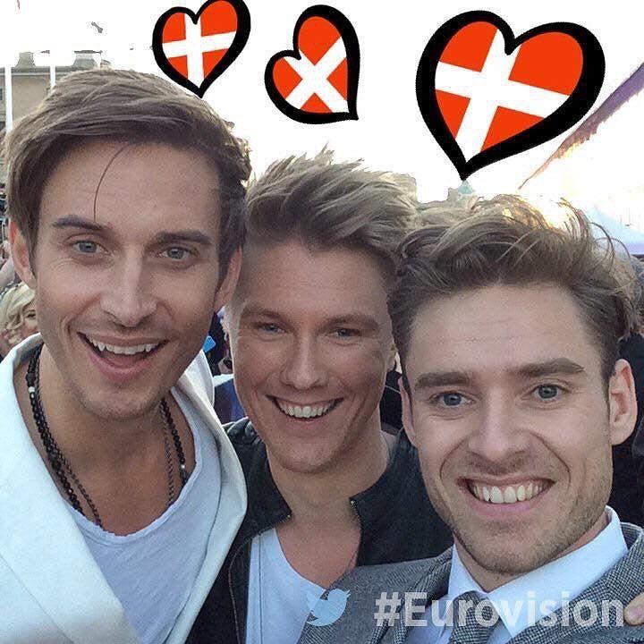 Festen er så meget i gang for de tre lækre fyre @joe_ny @martin_skriver og @sorenbregendal fra #lighthouseX - det bliver vildt i #stockholm og vi krydser hvad krydses kan for at de skal vinde.  #XQ28official #bøsse #lesbisk #transkønnet #biseksuelle #lgbt #lgbtdanmark  #gaycopenhagen #gayaarhus #cphpride #lambda #gay #eurovision2016 #copenhagen #boyswillbeboys by xq28official