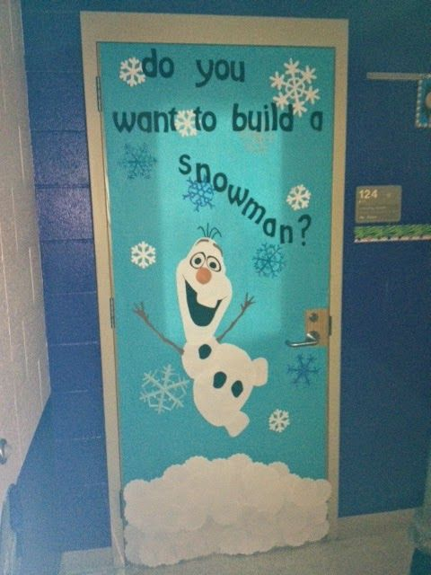 Pinspired Tricks and Treats: Classroom door decor - Do you want to build a snowman?