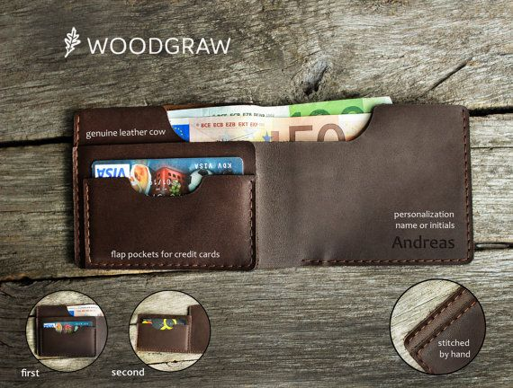 Wooden Leather Wallet, Personalized Leather Wallets, Wood wallet, Mens wallet Birds Groomsmen gift, Boyfriend gift, Husband gift, Mens gift