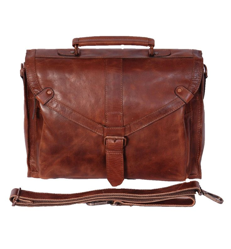 Pour Des Hommes Porte-documents en cuir véritable sac à bandoulière HOL18 (Ocre): Amazon.fr: Bagages