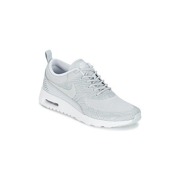 Nike AIR MAX THEA PRINT W Shoes (Trainers) (£102) ❤ liked on Polyvore featuring shoes, sneakers, beige, trainers, women, synthetic shoes, nike footwear, print shoes, nike sneakers and nike