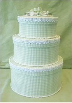 Gingham and roses in sage.