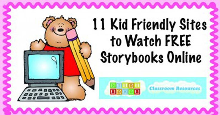 "Here are 11 websites with a variety of free books for kids to watch online- some animated, some read by celebs, and some with simple ""still"" shots of the books."