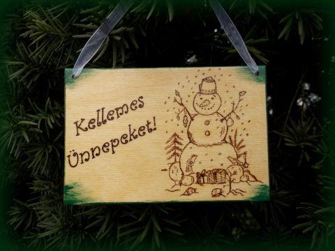 Kellemes ünnepeket!  - KÉSZLETEN, Dekoráció, Karácsonyi, adventi apróságok, Famegmunkálás, Meska