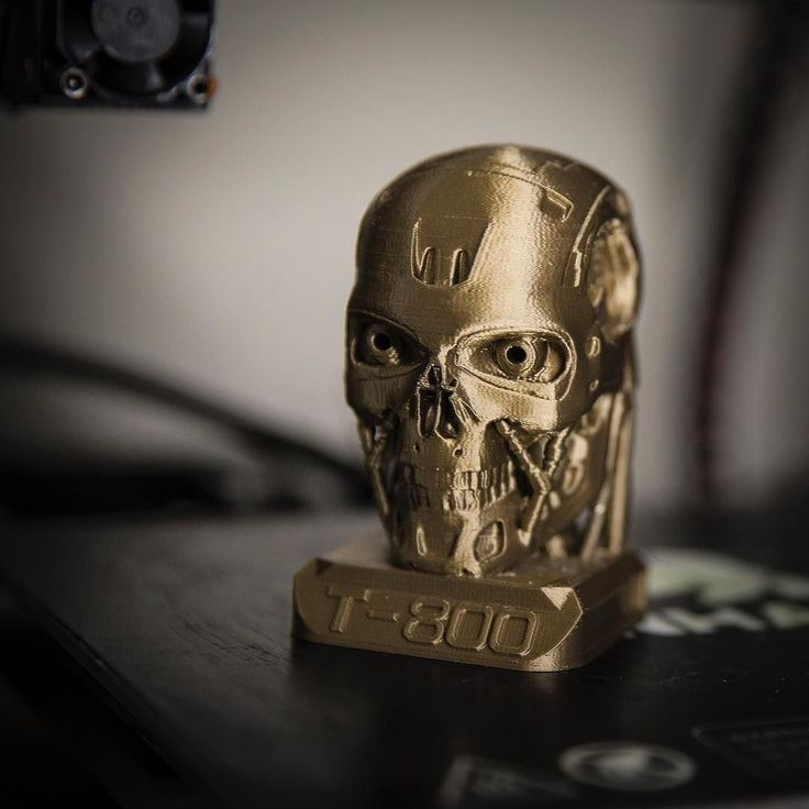 Something we liked from Instagram! 3D printed T800 endoskull #PETG #hdglass #3dprinter #3dprinted #3d #cocooncreate #aldi #wanhao #duplicator #duplicatori3 #filament #canon #1dx #dslr #bronze #blindedbronze #formfutura @formfutura #t800 #terminator by grantlyy3d check us out: http://bit.ly/1KyLetq