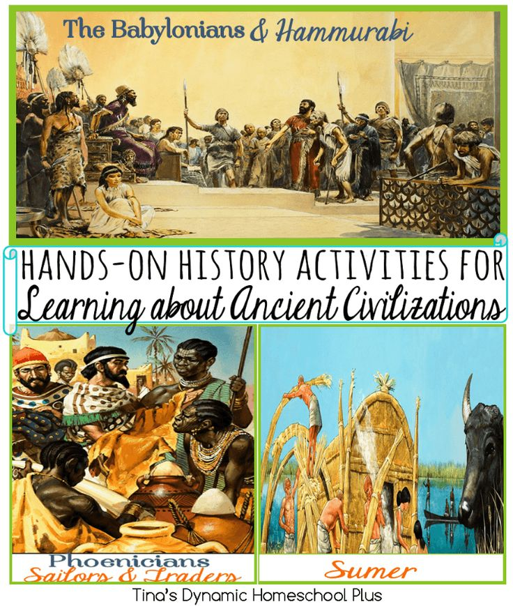 Hands-on History Activities for Learning about Ancient Civilizations. Making a connection to the past through hands-on learning keeps it fun.