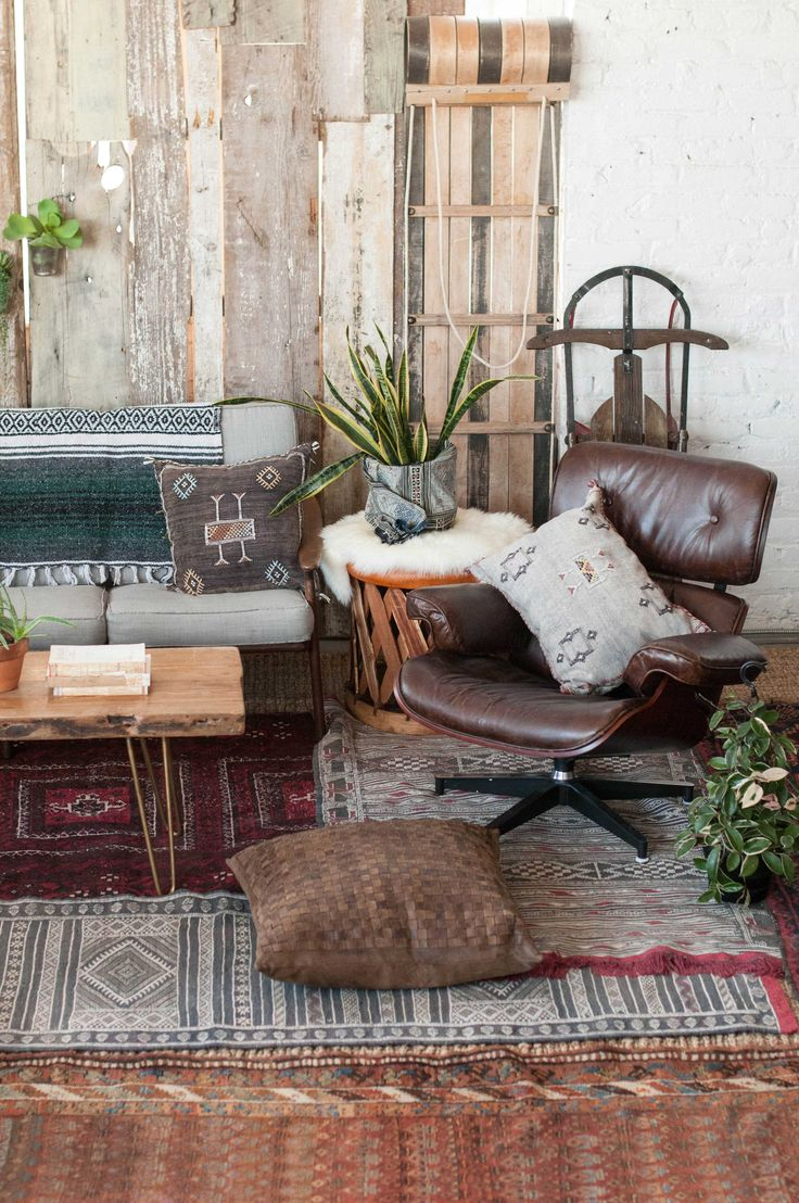 Layering Rugs Makes A Killer Cabin Fever Look Kilim And
