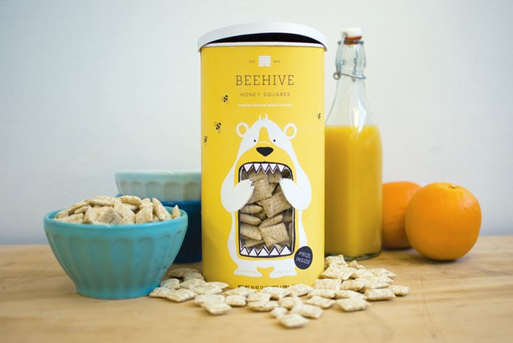 adorable branding!! / beehive honey squares / designed by lacy kuhn