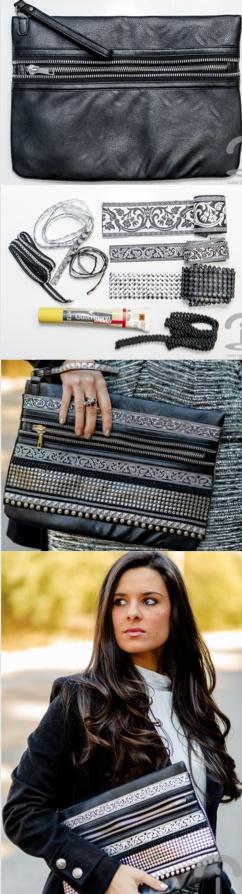 DIY Baroque Handbag #cártera o sobre bordado y redecorado con estilo ;)